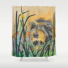Tall Grass Terrier Shower Curtain