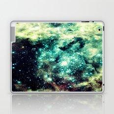 Galaxy Nebula Teal Laptop & iPad Skin