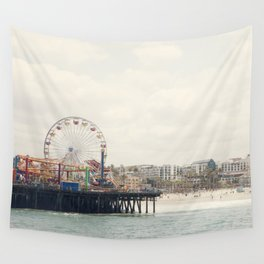 Santa Monica Pier. Happy Birthday Pacific Park!  Wall Tapestry