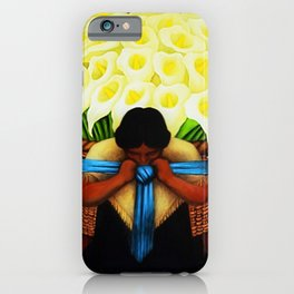 El Vendedor de Alcatraces (the Bringing of the Calla Lilies to Market) by Diego Rivera iPhone Case