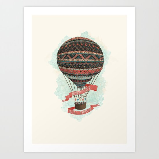 have love, will travel Art Print