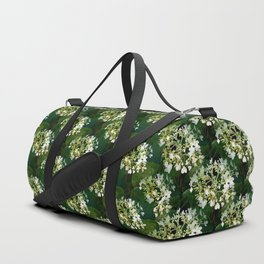Hills-of-snow hydrangea pattern Duffle Bag
