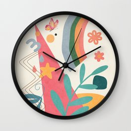 Abstract Summer 4 Wall Clock