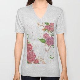Lovely Roses Unisex V-Neck