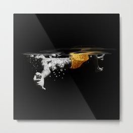 Black Water II Metal Print