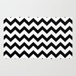 Chevron (Black & White Pattern) Rug
