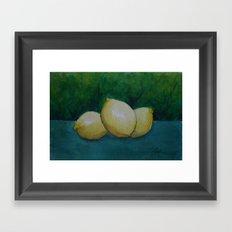 Three Lemons WC160319 Framed Art Print