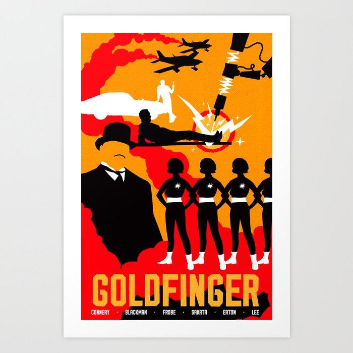 James Bond Golden Era Series :: Goldfinger Art Print