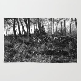 Black and white country wicked forest Rug