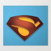 shield Canvas Prints featuring shield by hobbs