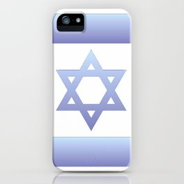 flag of Israel - with color gradient iPhone Case