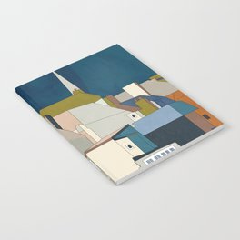 france houses abstract art Notebook