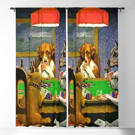 Dogs Playing Poker A Friend in Need Blackout Curtain