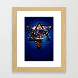 MarblExplosion  Framed Art Print