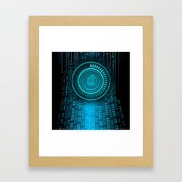 Futurist Matrix | Digital Art Framed Art Print