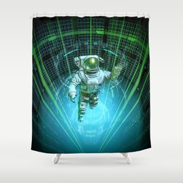 Diving The Data Core Shower Curtain