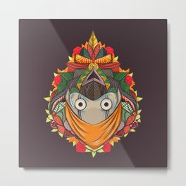 colorful cute priest Metal Print