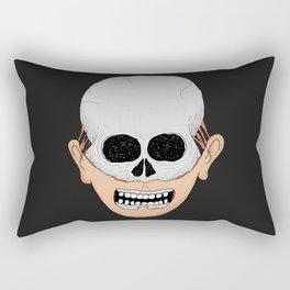beardy skull Rectangular Pillow