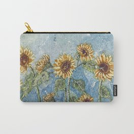 Watercolor Sunflowers,Watercolor Batik, Sunflower Art,Sunflower Flower Carry-All Pouch