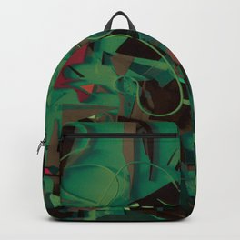 Metropolis- Mixed Media Collage Backpack