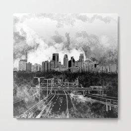 minneapolis city skyline Metal Print