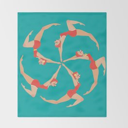Synchronized Swimmers Throw Blanket
