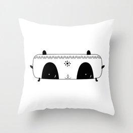 Flat head cat Throw Pillow