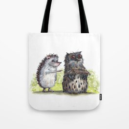 Hedgehog's here Tote Bag