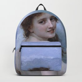 THE WAVE - WILLIAM-ADOLPHE BOUGUEREAU Backpack