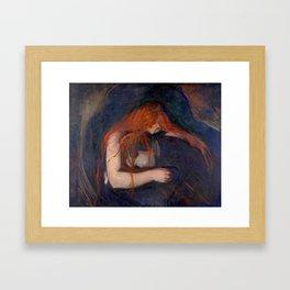 Edvard Munch - Love and Pain (The Vampire) Framed Art Print