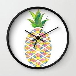 Pineapple Sunrise Wall Clock