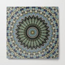New Color Pyramidal Mandala 1 Metal Print