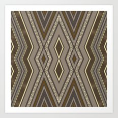 Geometric Rustic Glamour Art Print