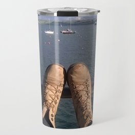 Shoes and a view Travel Mug