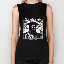 Black beard Edward Teach Pirates of the Caribbean Pirate Black Sails pirate Biker Tank
