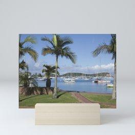 Boats in the Bay Mini Art Print