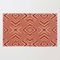 orange pattern Area & Throw Rugs featuring Pattern orange by Christine baessler