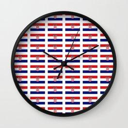 Flag of croatia 2 -croatian, Hrvatska,croat,croacia,Zagreb,split,rijeka,osijek. Wall Clock