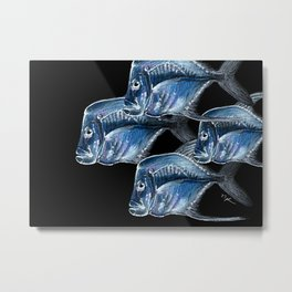 Lookdowns at the Aquarium Metal Print