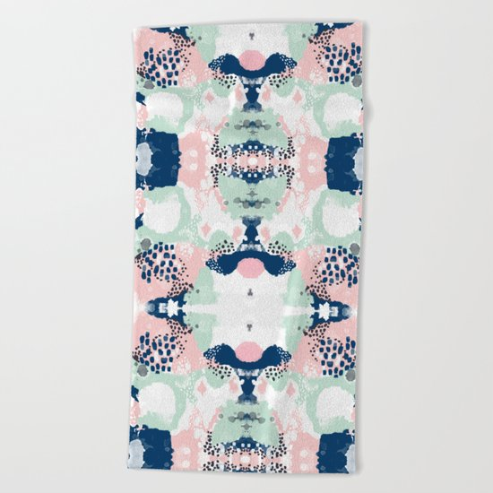 Kimmie - abstract painting modern hipster trendy urban city painterly boho home college dorm decor  Beach Towel