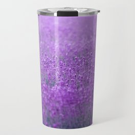 Rain on Lavender Travel Mug
