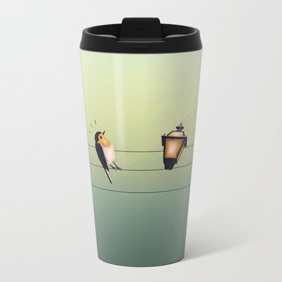 Feeling Wired (Green) Metal Travel Mug
