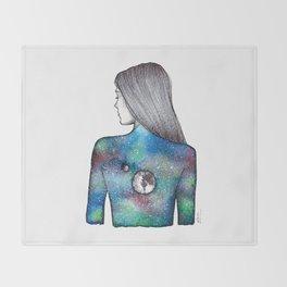Earth and Moon Throw Blanket