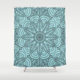 Black Flower Mandala 2 Shower Curtain