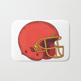 American Football Helmet  Tattoo Bath Mat