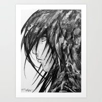 no face Art Prints featuring Face by rchaem