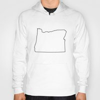 oregon Hoodies featuring Oregon by mrTidwell