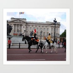 The Guards with their Horses 2 Art Print