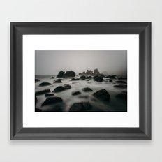ocean shore Framed Art Print