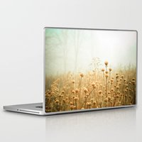 laptop Laptop & iPad Skins featuring Daybreak in the Meadow by Olivia Joy StClaire